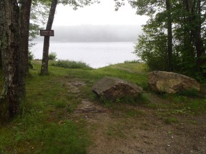 Acces point to Sewell Lake off Route 127