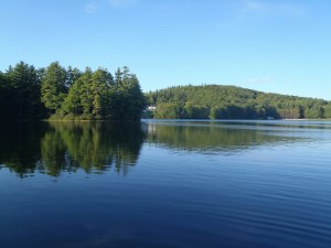 A beautiful view of Adams Pond