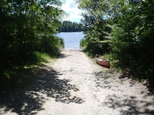 View of the boat launch on Worthley Pond