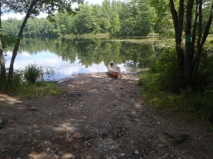 Rough access point to Pickerel Pond