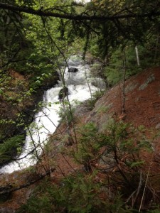 One of the many spectacular water falls on Pierce Pond Stream