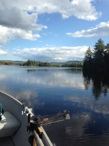 An unusually windless afternoon on Upper Pierce Pond...