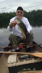 This nice largemouth bass was caught by the island on a buzzbait