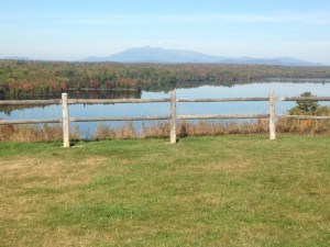 View of Mount Katadhin from south of Millinocket, Maine