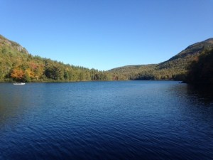 Middle Fowler Pond is long, narrow, and beautiful
