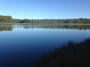 A glorious view of Brainard Pond from the access point.