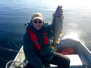 A typical-size togue for Sebago Lake. I'm not going home skunked!