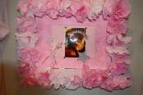 Paper tissue roses Picture Frame