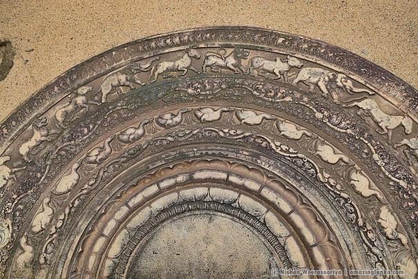 Moonstone at Anuradhapura Biso Maligaya