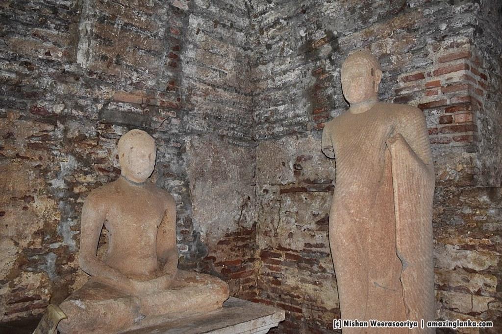 Ancient Buddha Images inside the Thuparama Image House