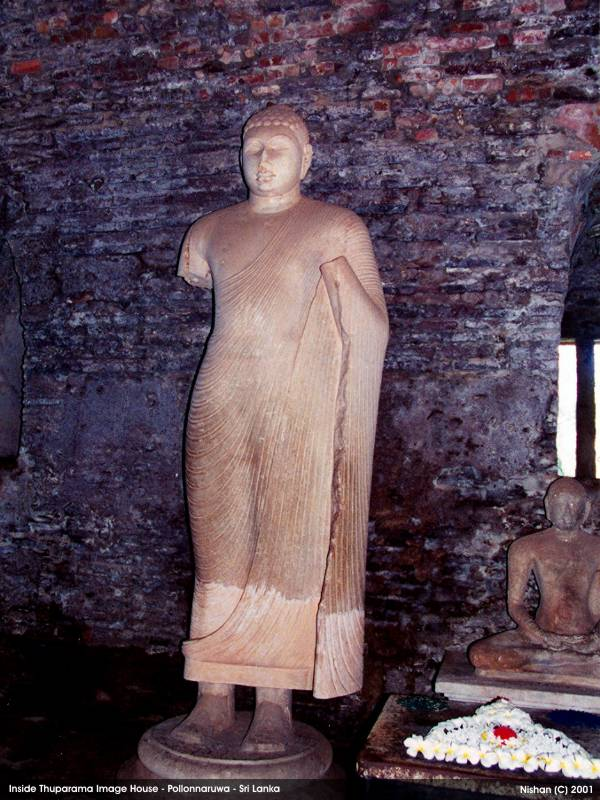 an ancient Buddha Image inside the Image House
