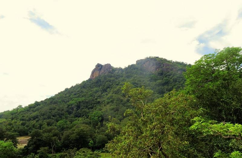 View of Kuragala from top of Budugala Monastery