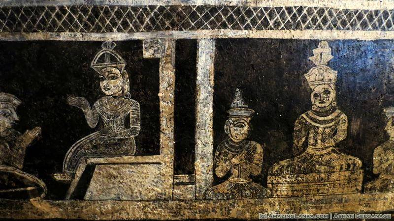 Murals inside the image house of Bihalpola Rajamaha Viharaya
