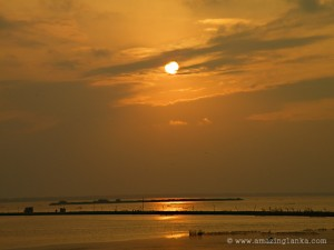 Sunset over the Jaffna Lagoons seen from the ramparts