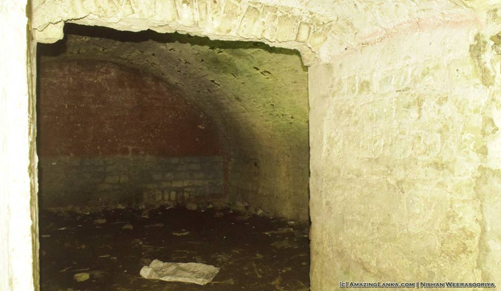 Store rooms underneath the Mannar Fort
