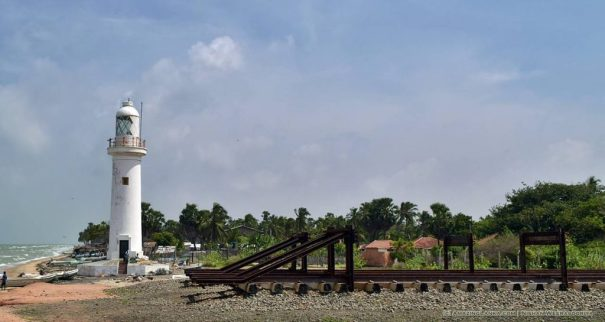 End of the Thalaimannar Railway Line and the Thalaimannar New Lighthouse