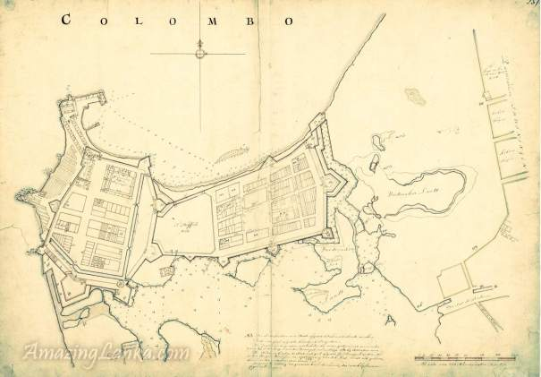 Dutch Fort of Colombo drawn in 1681