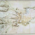 Ancient Map of fort at Galle, Ceylon 1787