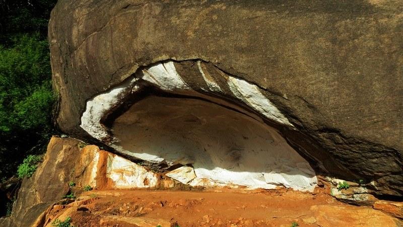 Vandalized caves by religious groups - Prehistoric Kuragala