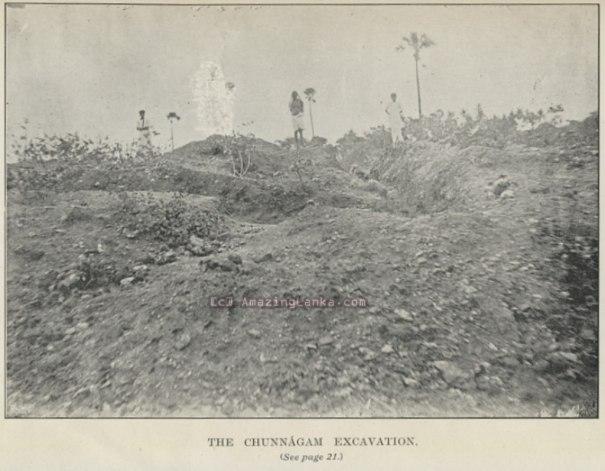 PLATE 1 : Chunnakam Excavations (where the Vallipuram statue was found)