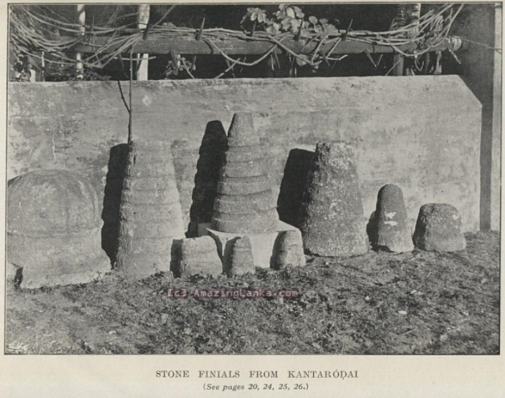 PLATE II : : Stone Finials from Kantarodai