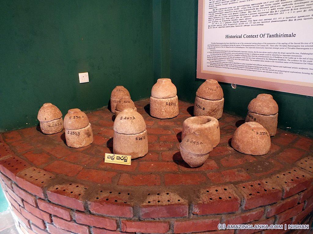 Stone relic caskets un earthend during excavations @ Thanthirimale Rajamaha Viharaya