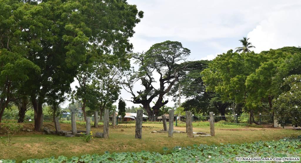 Ruins of ancient buildings around the Yatala Stupa in Debarawewa