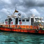 The ferry service to Delft Island