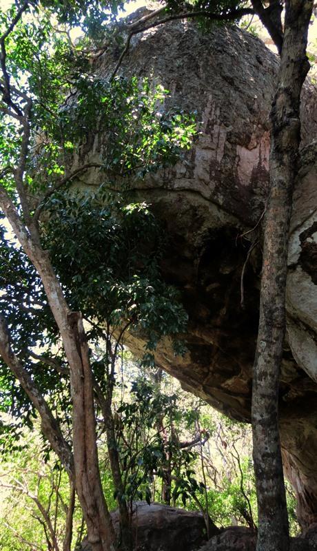 A huge cave among the Bowattegala Archaeological Ruins in Kumana