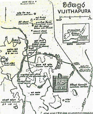 Map of Vijithapura
