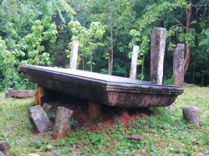 The huge Asanagara known as Gal Enda at Kalagam Vehera Ruins