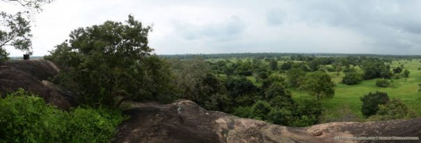 View from the top of Barathanaga Lena Cave Rock where an ancient stupa stood.