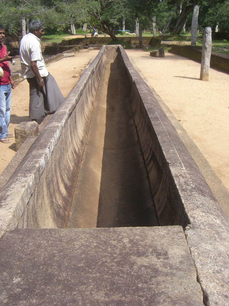 The rice boat which fed thousands of monks at Mahapali Alms Hall in Anuradhapura