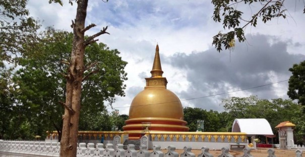 """Yasvanth Golden Stupa"" of Wathuruwa Rajamaha Viharaya"