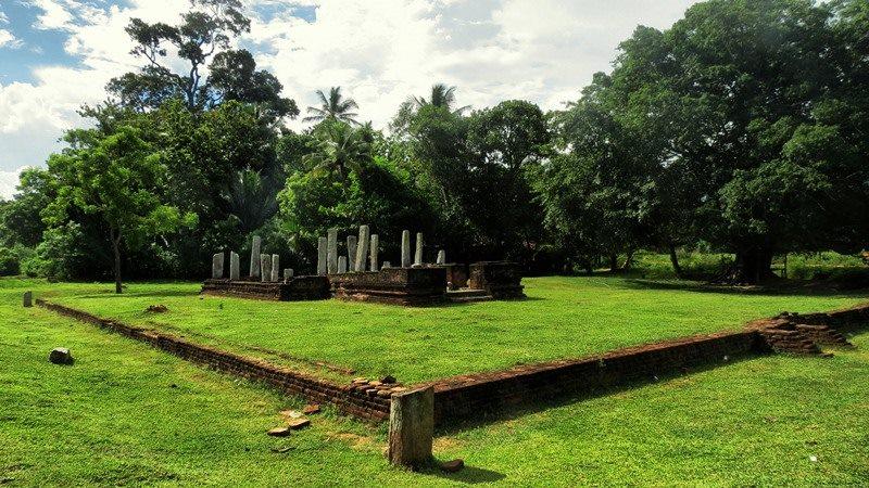 A preserved building at the Uchchawalike Rajamaha Viharaya