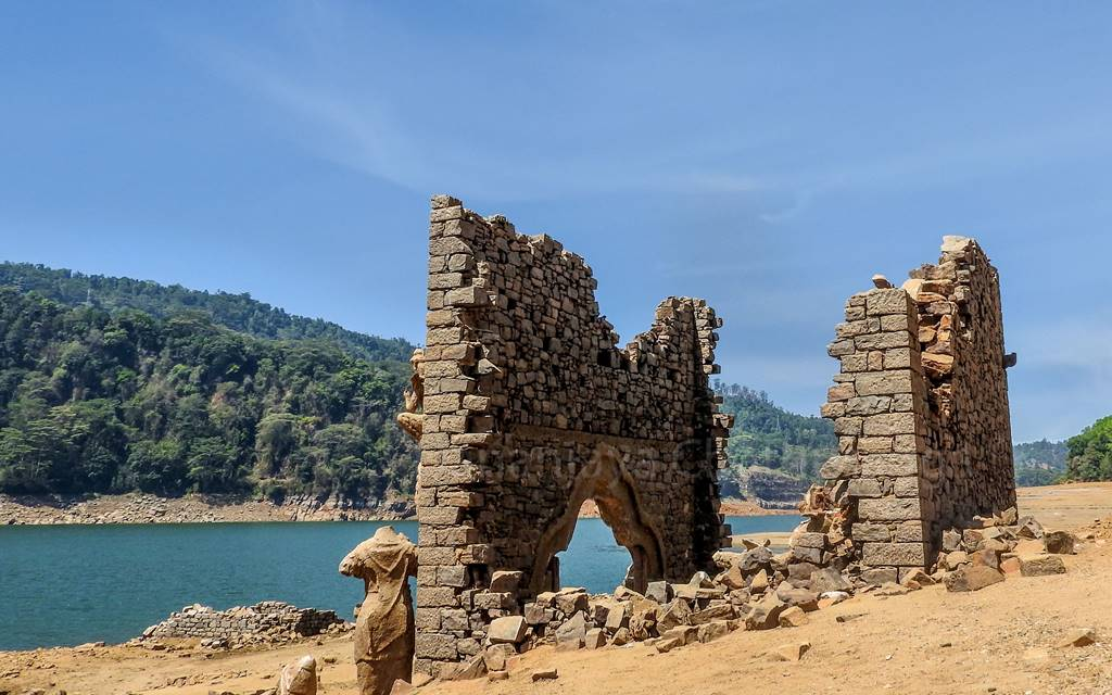 Ruins of Kadadora Temple after 30 years under water
