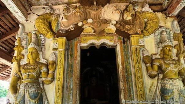 Entrance to the inner chamber of the Kanugala Sri Pushparama Tampita Viharaya