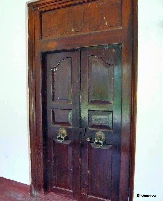 A door frame believed to be from the original Lewke Walawwa.