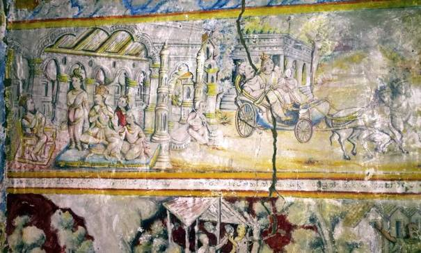 Inside the Tampita Viharaya at Manankattiya Sri Sudarshanarama Rajamaha Viharaya