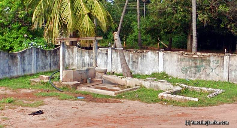The ancient well with the tank at the ancient Pond at Nelliady Muthukumara Swamy Kovil in Jaffna