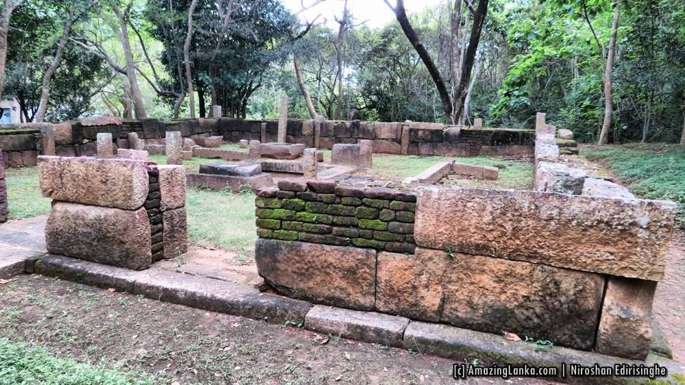 Conserved Janthaghara (ඡන්තාඝරය) building at Manakanda ancient monastery