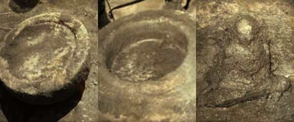 The stone casket and the Buddha statue within the casket discovered during the excavation of the Thammennakanda Purana Viharaya ancient stupa mound.