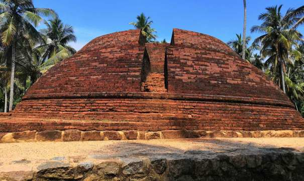 The stupa discovered in 2012 and restored by the department of achaeology at the Wattarama Sri Arahantha Maliyadeva Rajamaha Viharaya