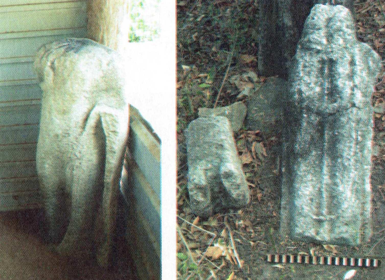 ඔසුඩාන් කෙරිඩමඩු පුරාවිද්යා ස්ථානයේ සිටි බුද්ධ ප්රතිමාවේ සහ අවලෝකිතේෂ්වර ප්රතිමාවේ කවන්ධය – Keridamadu Archaeological Site in Mulativu