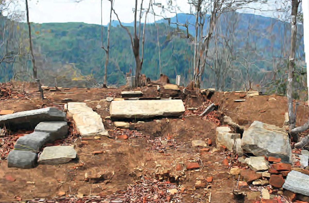 දළදා මාලිගාවක් වූ කෑගල්ල බෙලිගල පර්වතය - Archaeological Ruins of Beligala Rock source : www.dinamina.lk