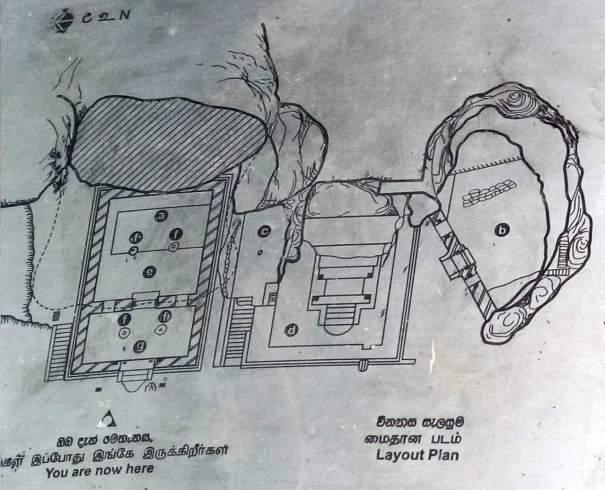 Map of Dighapashana Cave (Sudassana Padanagaraya) of Anuradhapura Kingdom - අනුරාධපුර දීඝ පාෂාණ ලෙන (සුදස්සන පධානඝරය)