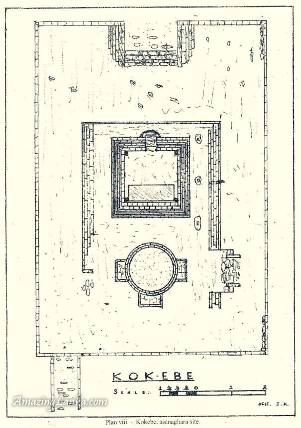 The plan of the Asanaghara Building of Kokebe