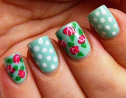 Vine Rose Nail Art 3 S