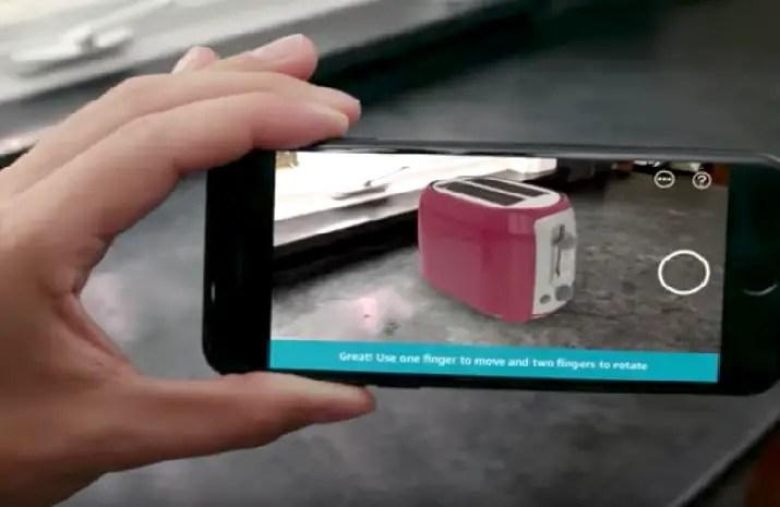Amazon 3-D AR Shopping Feature