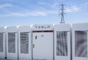 Viola Tesla Battery Grid Storage Installation